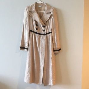 Blush nude French princess trench pea coat